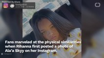 Rihanna Lookalike Ala'a Skyy, Age 7, Lands Major Hair Contract
