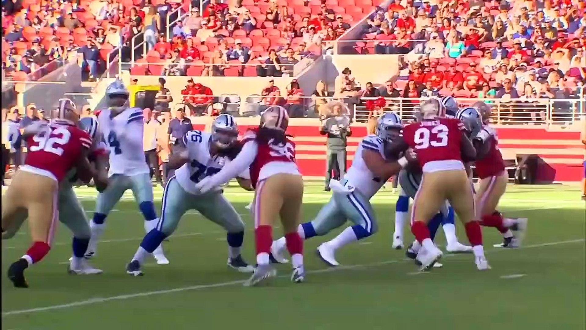 Cowboys vs 49ers NFL Preseason First Half Highlights _ NFL Highlights