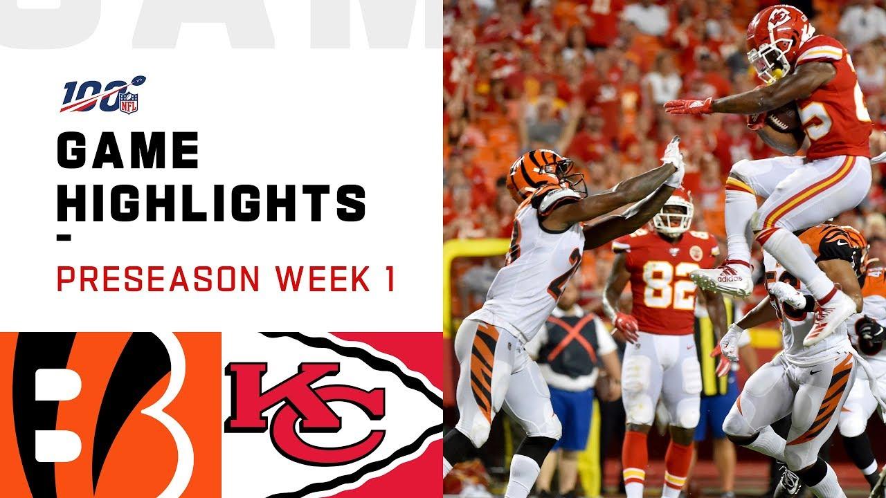 Bengals vs. Chiefs Preseason Week 1 Highlights _ NFL 2019