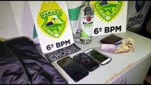 Choque: quarteto acusado de praticar assalto em distribuidora no Bairro Cancelli é detido