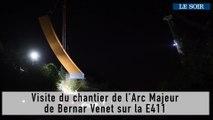 de l'Arc Majeur de Bernar Venet sur la E411