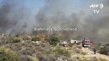 Waldbrände in Griechenland halten Feuerwehren in Atem
