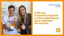 À 18 ans, il invente l'aimant à micro-plastiques qui nettoie les océans