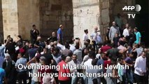Israeli police, Palestinians worshippers clash at Jerusalem holy site