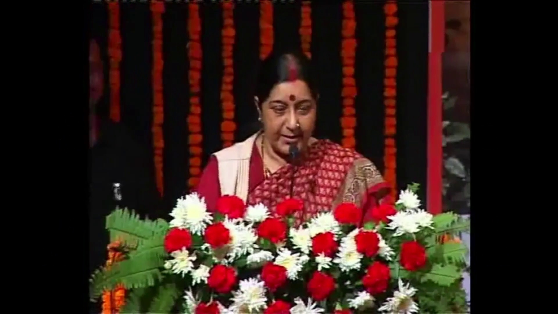 Sushma Swaraj speaks on Sanskrit Language