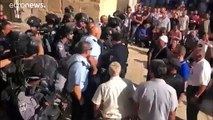 Israeli police clash with Palestinians at Eid al-Adha gathering in Jerusalem