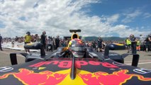 Sebastien Buemi and the RB8 cleared for take off at Grenchen Airfield