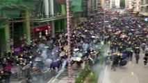 Incidentes durante nueva y masiva marcha prodemocracia en Hong Kong