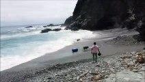 海の神様に叱られた。