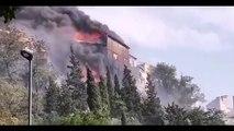 BEZIERS - Important incendie, deux habitations et un entrepôt brulés