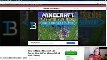 How To Make A Minecraft 1.14 Server (How To Play Minecraft 1.14 w Your Friends)