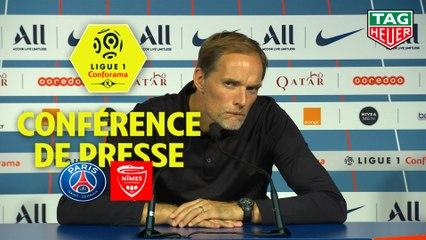 Conférence de presse Paris Saint-Germain - Nîmes Olympique (3-0) : Thomas TUCHEL (PARIS) - Bernard BLAQUART (NIMES) / 2019-20
