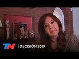 """El mensaje de Cristina Kirchner desde Río Gallegos: """"Así como estamos no estamos viviendo bien"""""""