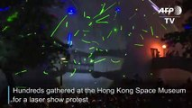 Hong Kong protesters gather for 'laser show' rally