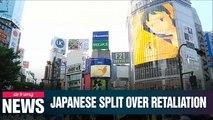 Anti-economic retaliation vs pro-Abe stance on S. Korea splits Japan