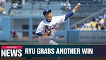 LA Dodgers' Ryu Hyun-jin grabs his 12th win of the season against Arizona Diamondbacks