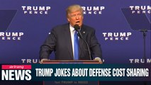 Trump jokes about how easy it was to get defense costs from S. Korea during fundraising event