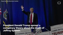 Trump Retweets Conspiracy Theory On Jeffrey Epstein's Death