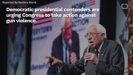 Democratic Presidential Candidates Ask Congress To Do Something Against Gun Violence