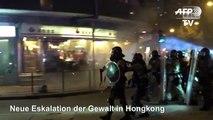 Neue Eskalation der Gewalt in Hongkong
