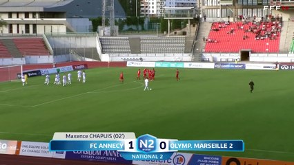National 2 | Annecy 2-1 OM : Les buts