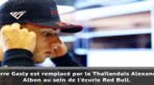 F1 - Gasly remplacé par Albon chez Red Bull