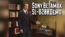 Vintage Sony Betamax VCR SL-8200 Demo (1978)