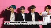 BTS to take 'extended' break for the first time since debut