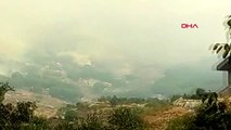 BALIKESİR Marmara ilçesinde ormanlık alanda yangın-1