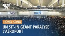 Un sit-in géant paralyse l'aéroport d'Hong Kong
