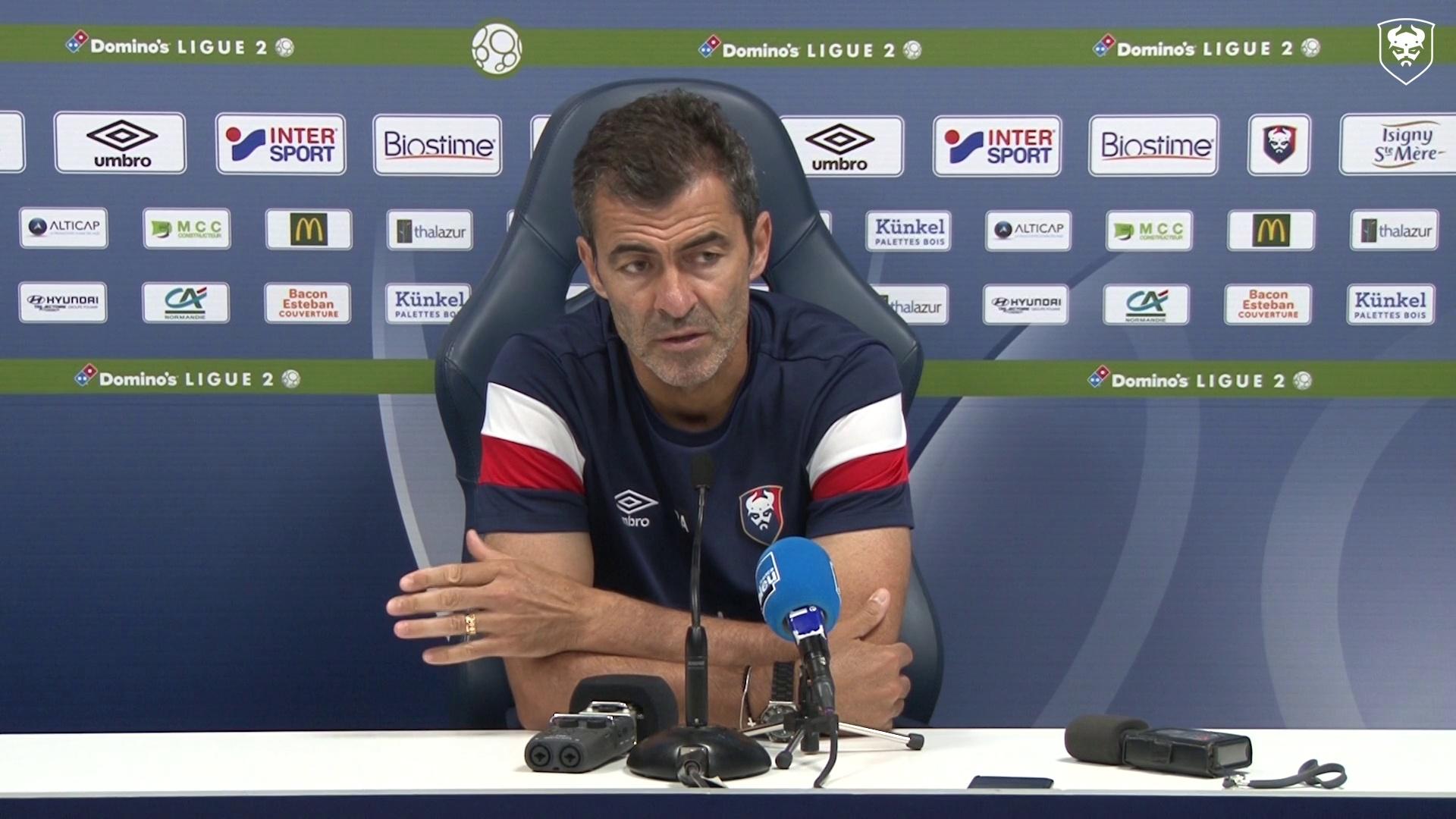 Conférence de presse avant SMCaen / AS Nancy Lorraine (1er tour Coupe de la Ligue)