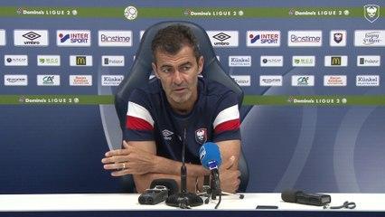 Conférence de presse avant SMCaen / AS Nancy Lorraine (1er tour Coupe de la Ligue BKT)