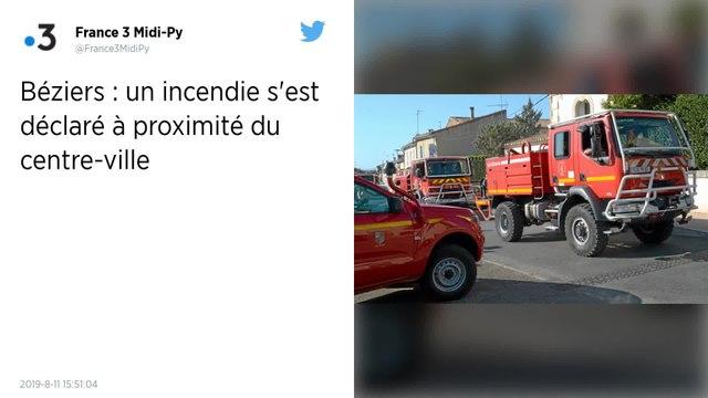 Un important incendie dans le centre-ville de Béziers mobilise 200 pompiers, des habitations détruites