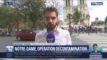 L'opération de décontamination au plomb commence dans le quartier de Notre-Dame