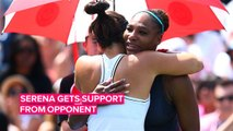 Heartfelt moment between Serena Williams and her opponent on the court