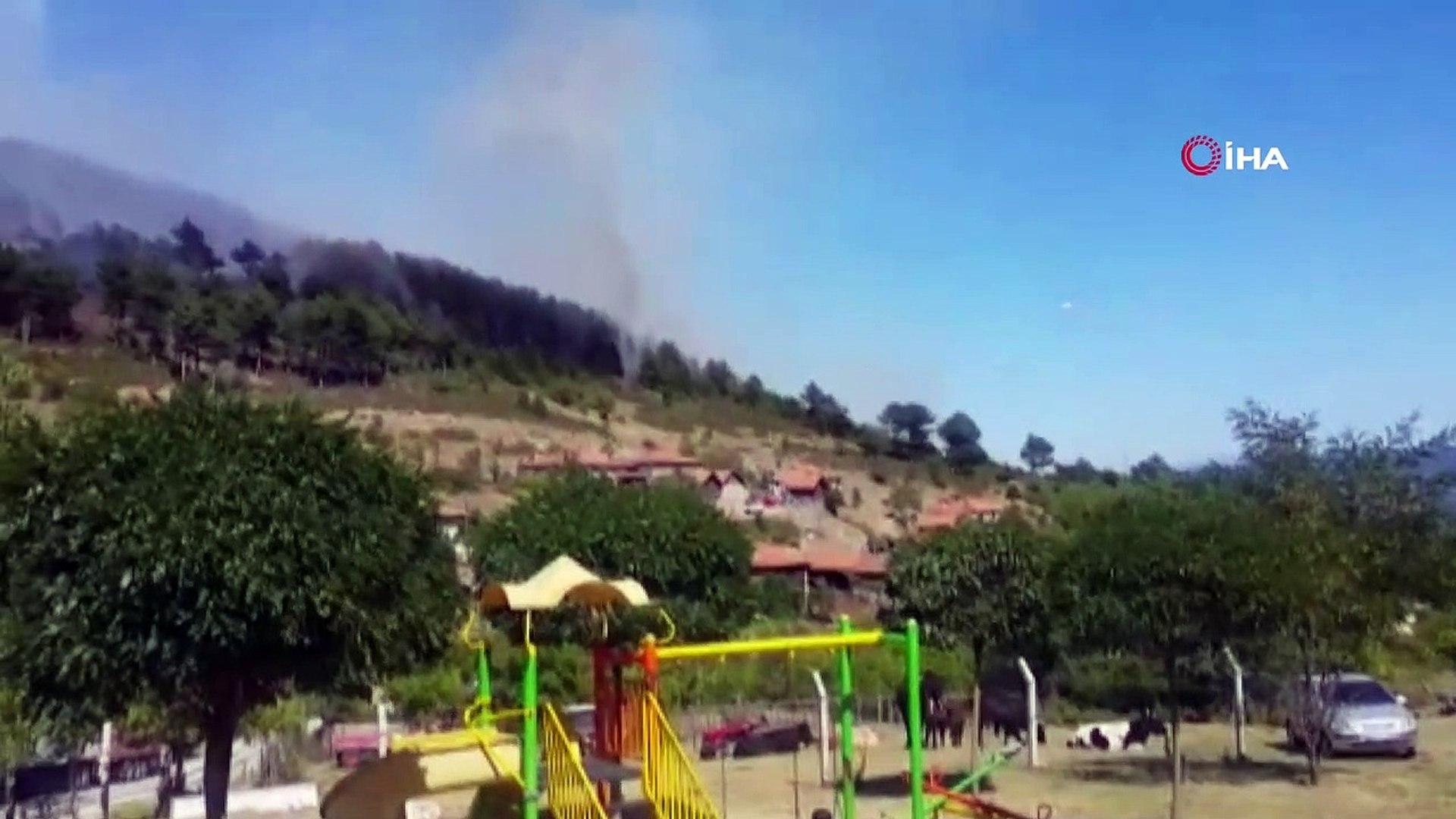 Alaçam dağlarında 7 hektarlık orman kül oldu