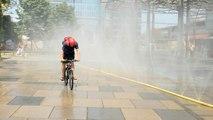 Sprühregen und Nebeldusche: Abkühlungsmaßnahmen in Wien