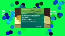[Doc] Environmental Water Footprints  Energy and Building Sectors (Environmental Footprints and