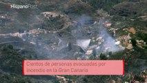 Cientos de personas evacuadas por incendio en la Gran Canaria