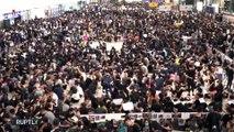 Suspenden todos los vuelos por protestas en Hong Kong