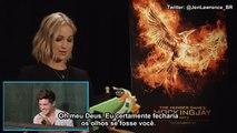 Jennifer Lawrence faz pegadinha com ajuda de Josh Hutcherson e Liam Hemsworth (legendado)