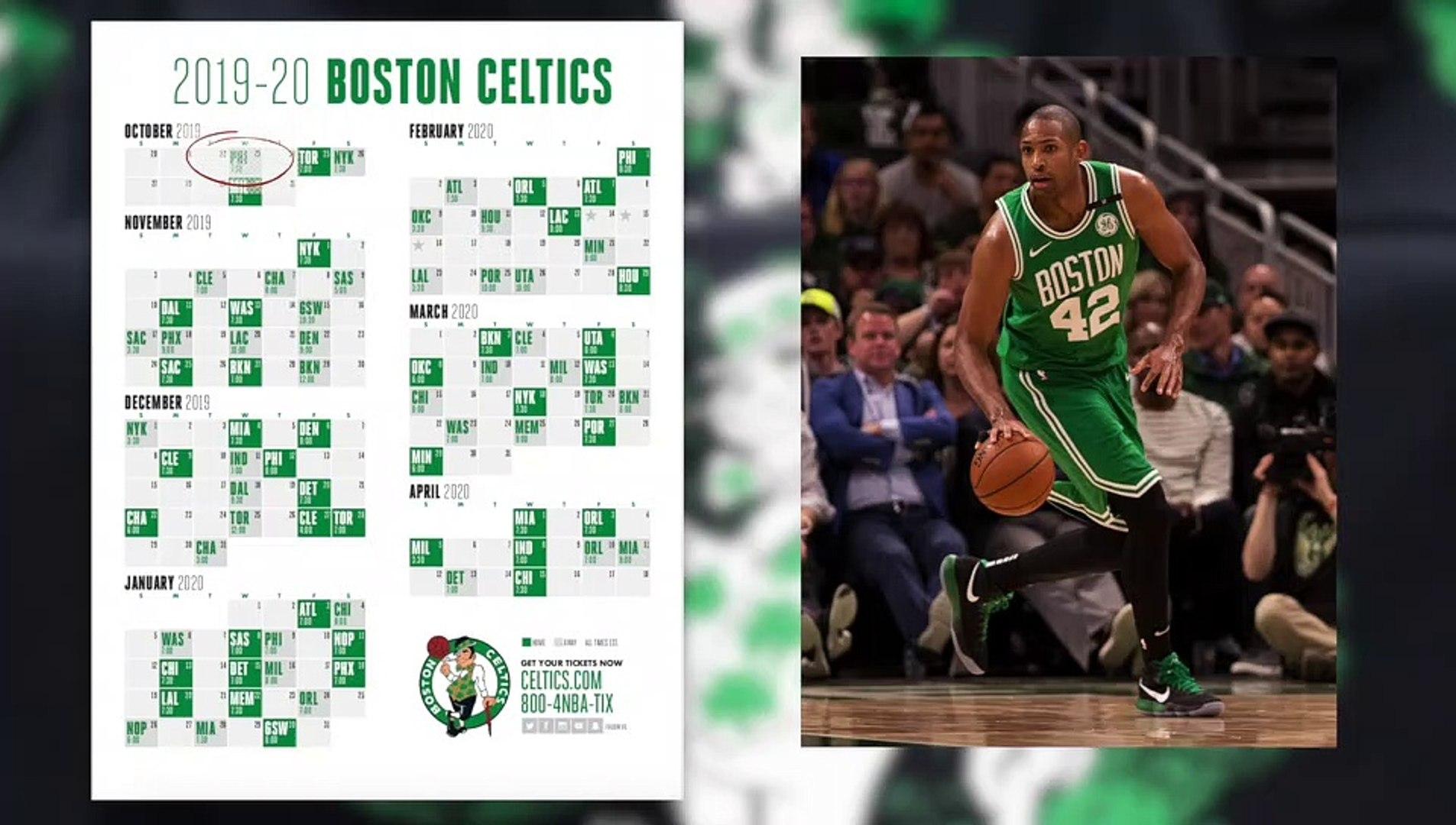 Celtics Schedule 2020.Celtics 2019 2020 Schedule Is Out