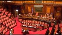 El senado italiano decidirá la fecha de la moción de censura