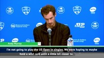 Murray confirms he won't play singles at US Open