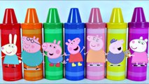 Learn Colors PEPPA PIG Crayons Toys Surprises Best Learning Video For Children Canal KidsToyShow