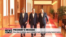 President Moon likely to address Japan's retaliatory trade restrictions during Cabinet meeting