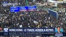 Hong-Kong: le trafic aérien a repris à l'aéroport après avoir été paralysé par un sit-in géant des manifestants pro-démocratie