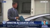 Le secrétaire d'État Gabriel Attal reste mobilisé pendant les vacances