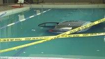 Un automobiliste termine sa route dans la piscine d'une salle de sport