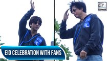 Shah Rukh Khan Celebrates Eid With Fans In Mumbai